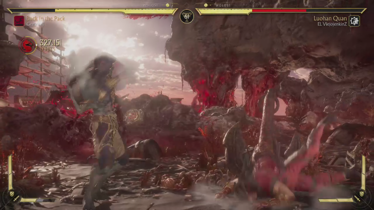 Gertruall playing Mortal Kombat 11